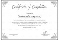 Class Completion Certificate Template 6