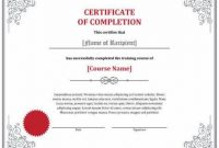 Class Completion Certificate Template 7
