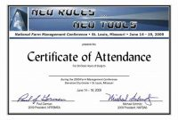 Conference Certificate Of Attendance Template 7