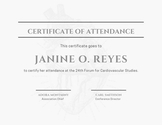 Conference Certificate Of Attendance Template 9
