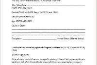 Death Certificate Translation Template 9