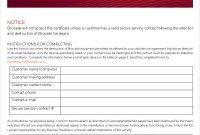 Destruction Certificate TemplateDestruction Certificate Template 3