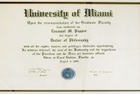 Doctorate Certificate Template 3