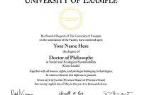 Doctorate Certificate Template 4