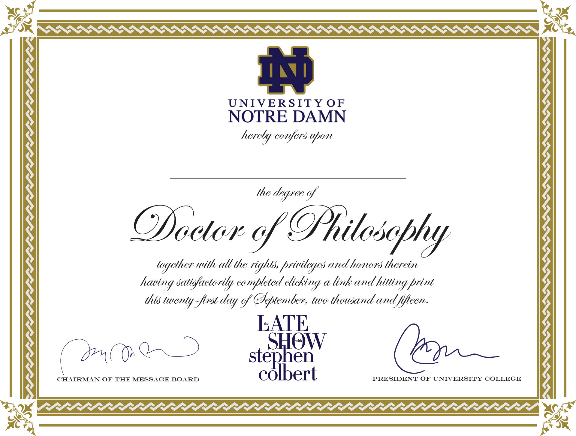Doctorate Certificate Template 7