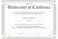 Doctorate Certificate Template 8