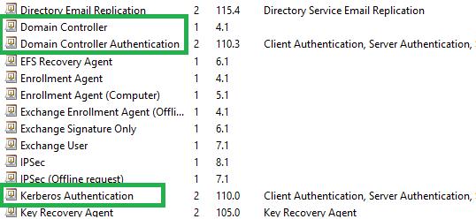 Domain Controller Certificate Template 3