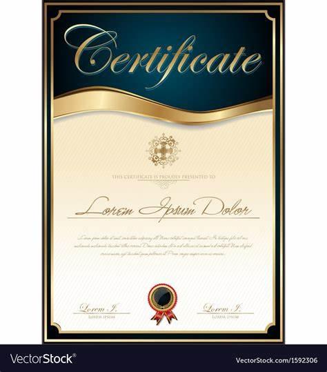 Elegant Certificate Templates Free 11