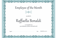 Employee Of the Month Certificate Template 12