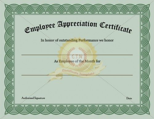 Employee Recognition Certificates Templates Free 10