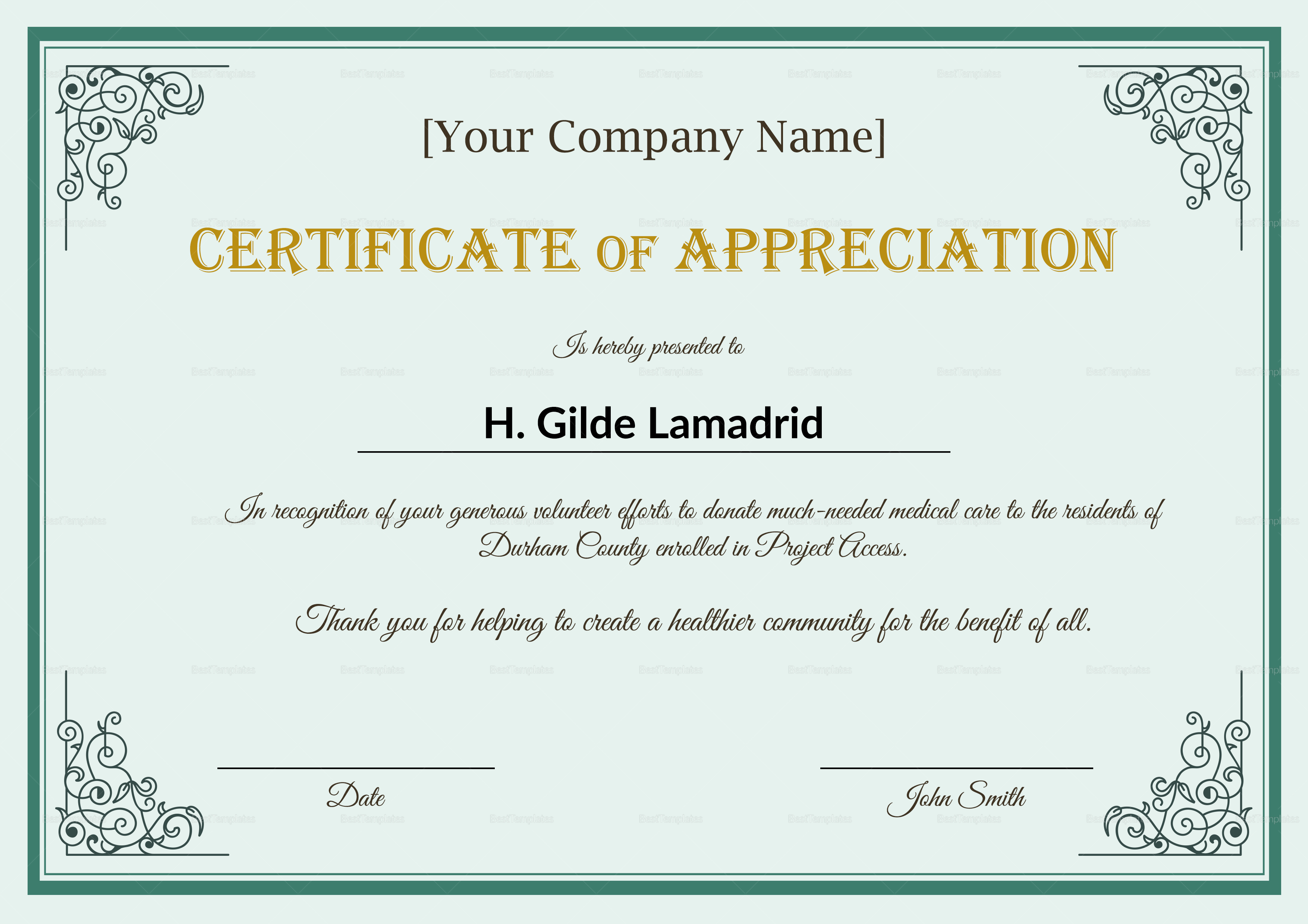 Employee Recognition Certificates Templates Free 9