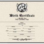 Fake Birth Certificate Template
