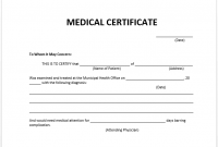 Fake Medical Certificate Template Download 6