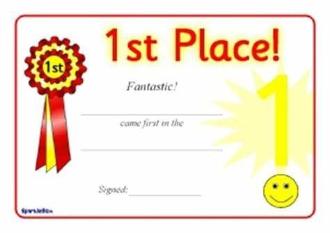 First Place Award Certificate Template 6
