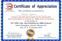 Formal Certificate Of Appreciation Template 6