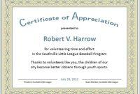 Formal Certificate Of Appreciation Template 7