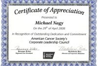 Formal Certificate Of Appreciation Template 9