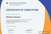 Free Completion Certificate Templates for Word 0