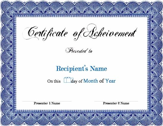 Free Completion Certificate Templates For Word 6