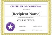 Free Completion Certificate Templates for Word 8