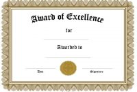 Free Funny Award Certificate Templates for Word 0