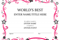 Free Funny Award Certificate Templates for Word 6