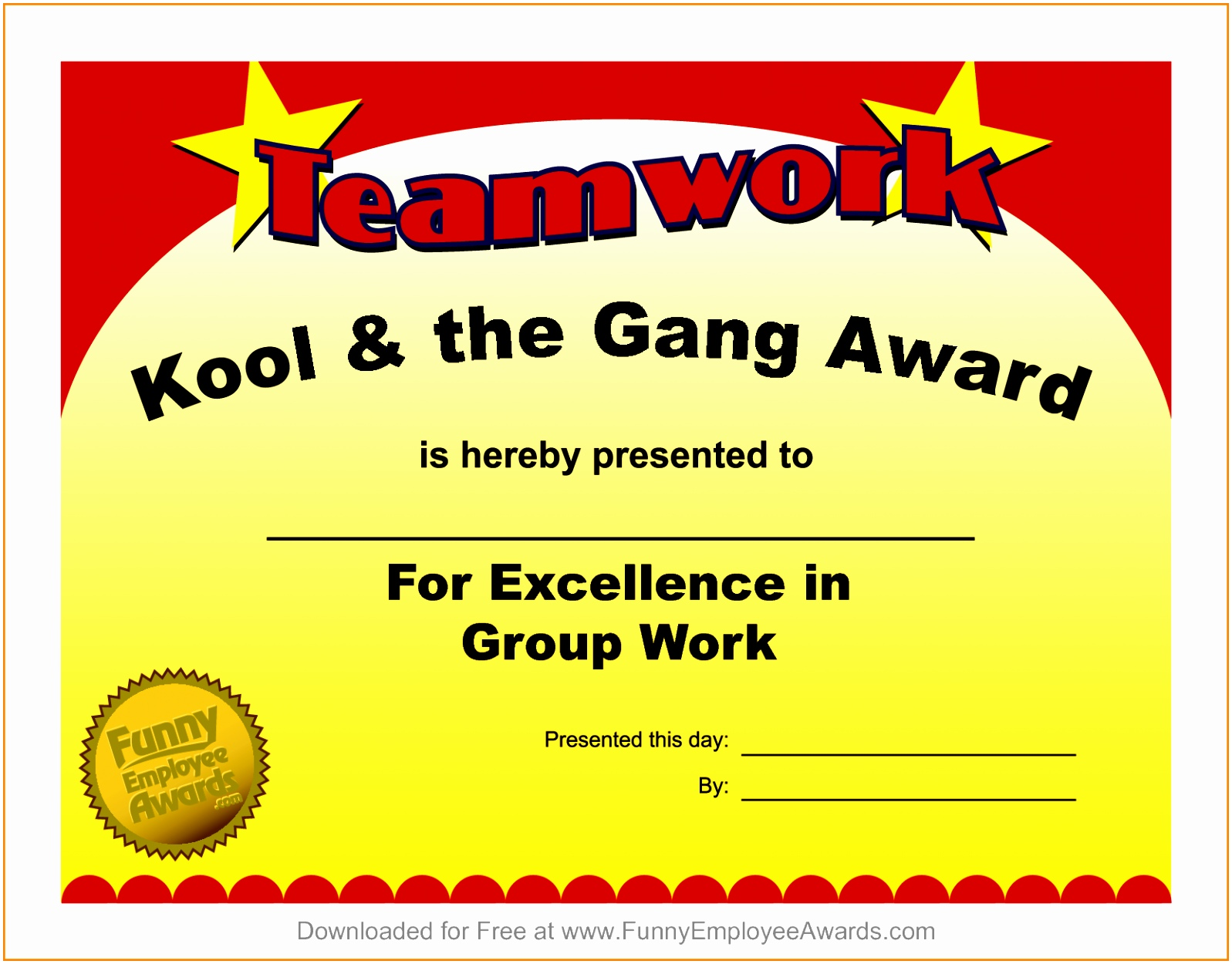 6 Funny Award Template Free Free Award Certificate Templates For Word Luxury PDF Word Excel Download Templates Otuae