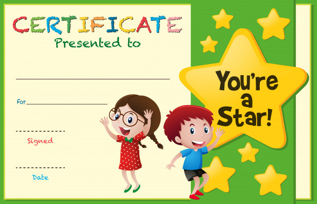 Free Kids Certificate Templates 1