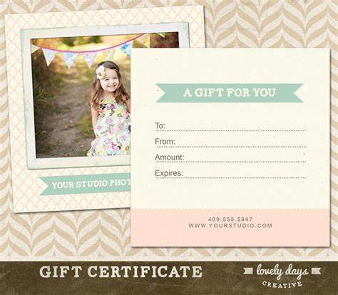 Free Photography Gift Certificate Template 11