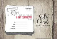 Free Photography Gift Certificate Template 3