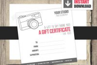Free Photography Gift Certificate Template 5