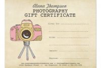 Free Photography Gift Certificate Template 6