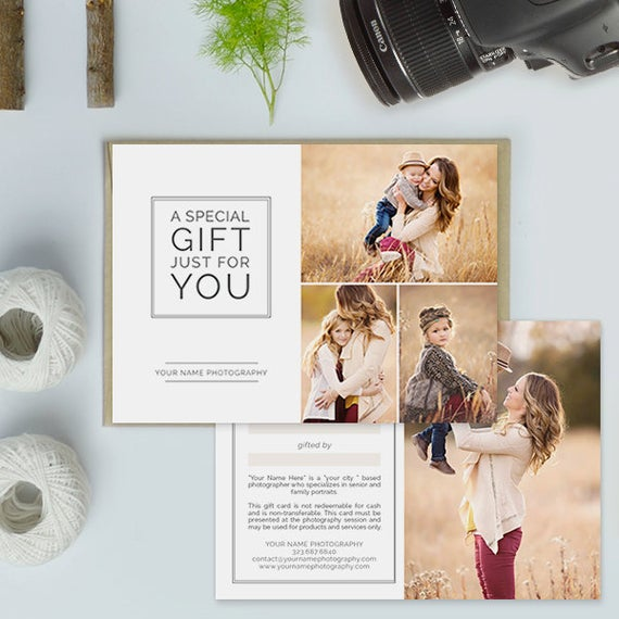 Free Photography Gift Certificate Template 7