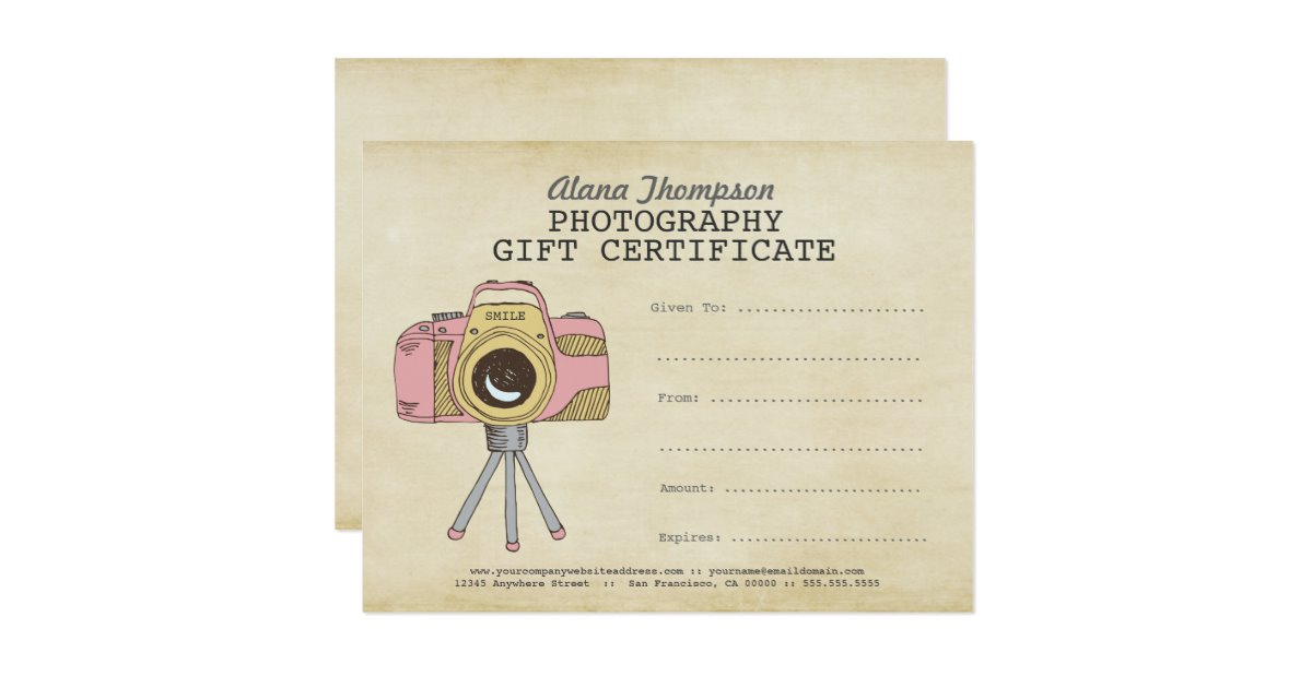 Free Photography Gift Certificate Template 8