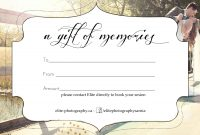 Free Photography Gift Certificate Template 9