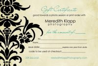 Free Photography Gift Certificate Template2