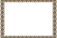 Free Printable Certificate Border Templates 1