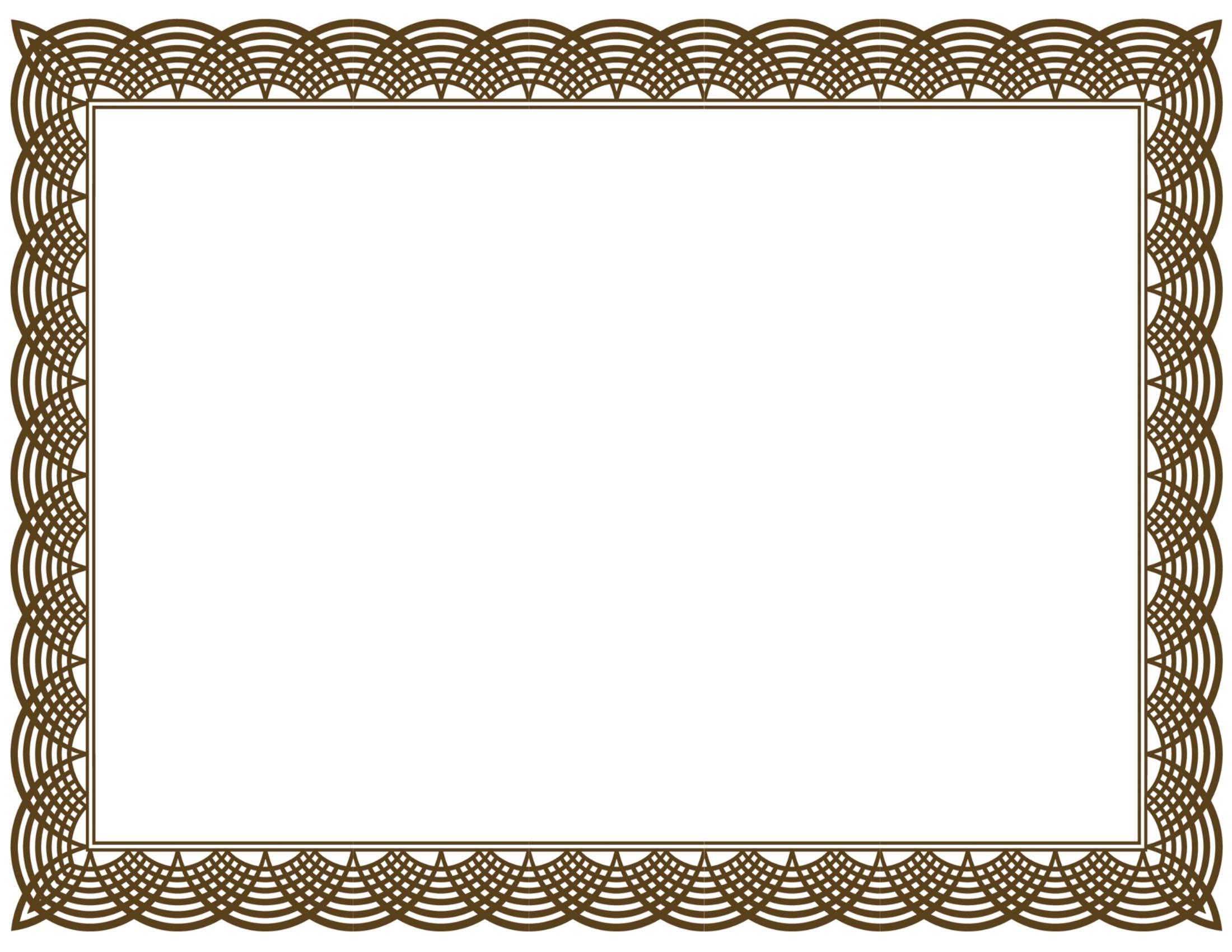 Free Printable Certificate Border Templates 1