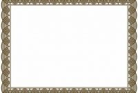 Free Printable Certificate Border Templates 3