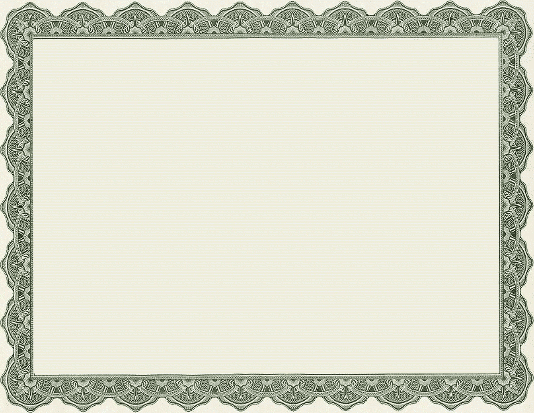 Free Printable Certificate Border Templates 5