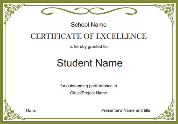 Free School Certificate Templates 5