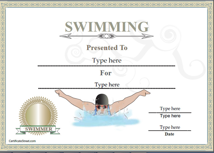 Free Swimming Certificate Templates 0