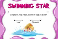 Free Swimming Certificate Templates 4