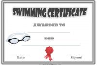 Free Swimming Certificate Templates 8