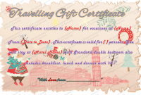 Free Travel Gift Certificate Template 4