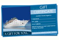 Free Travel Gift Certificate Template 5