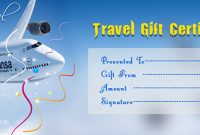 Free Travel Gift Certificate Template 7