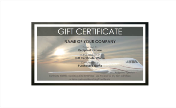 Free Travel Gift Certificate Template 8