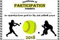 Free softball Certificate Templates 3