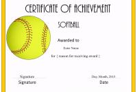 Free softball Certificate Templates 4